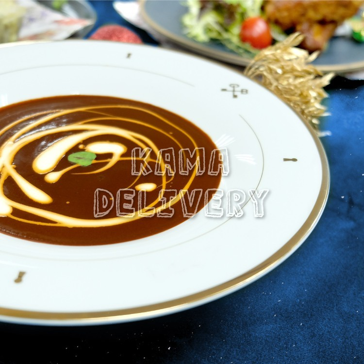 到會套餐頭盤為龍蝦海鮮湯|浪漫情人節套餐外賣配送|Kama Delivery Catering
