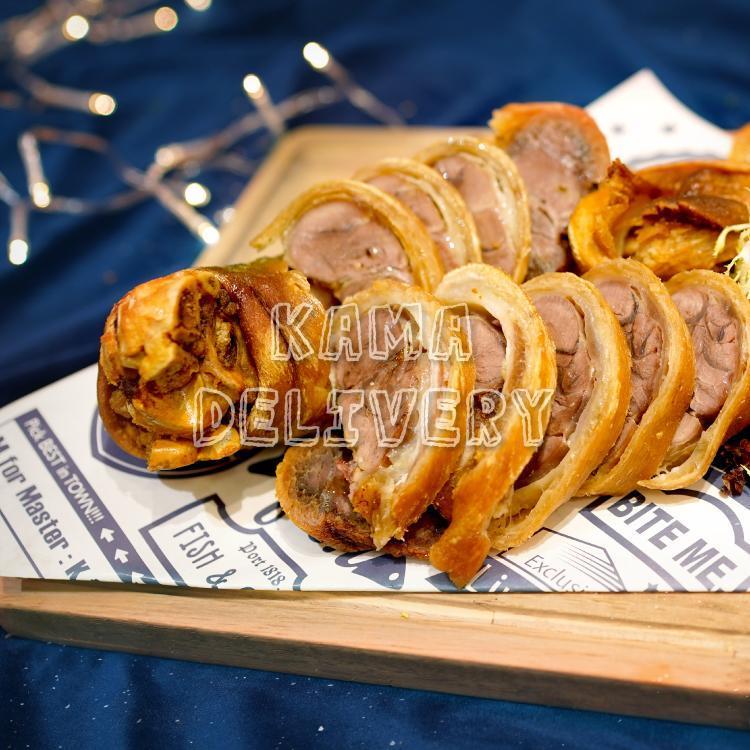 到會套餐主菜為德國焗咸豬手|浪漫情人節套餐外賣速遞|Kama Delivery Catering
