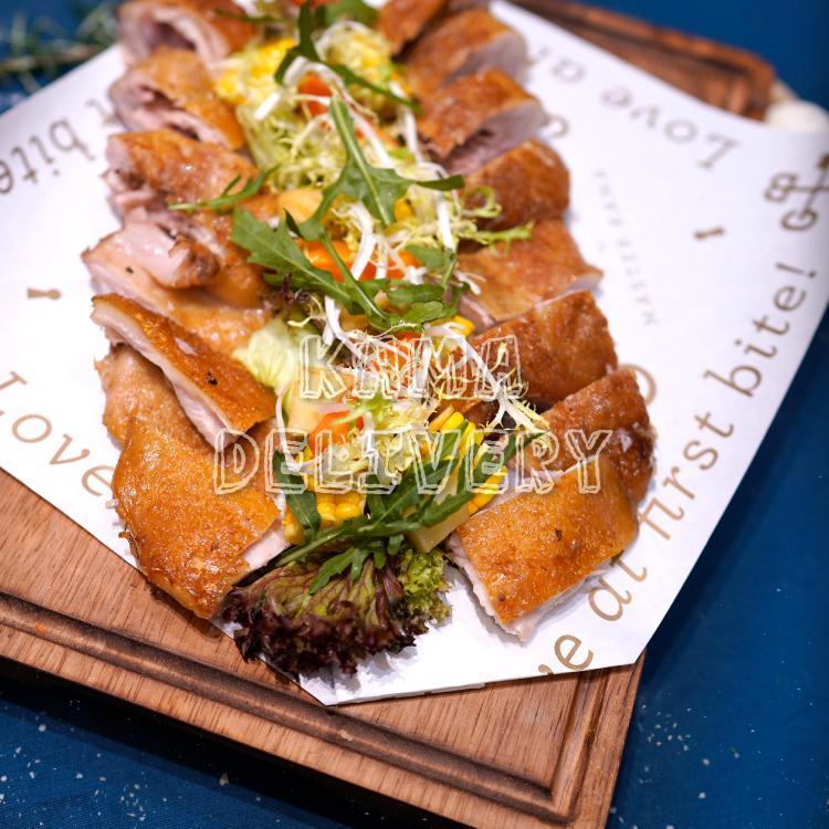 到會套餐頭盤為烤乳豬配燒汁焗薯|浪漫情人節套餐外賣速遞|Kama Delivery Catering