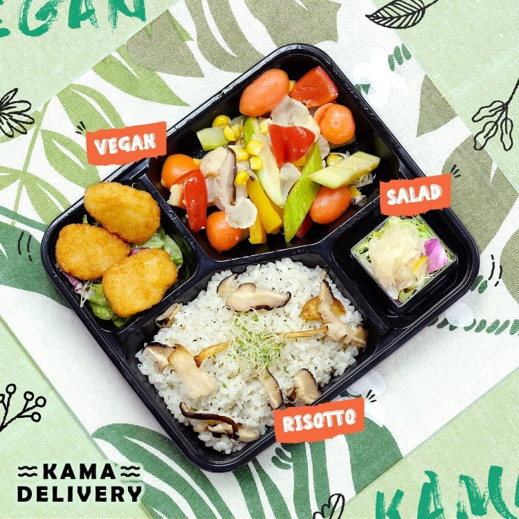 Kama Delivery的單點健康到會食物-一人素食餐盒