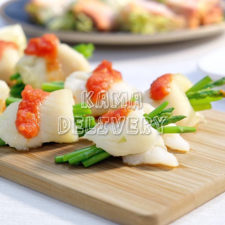Kama Delivery的單點健康到會小食-香煎比目魚蘆筍卷