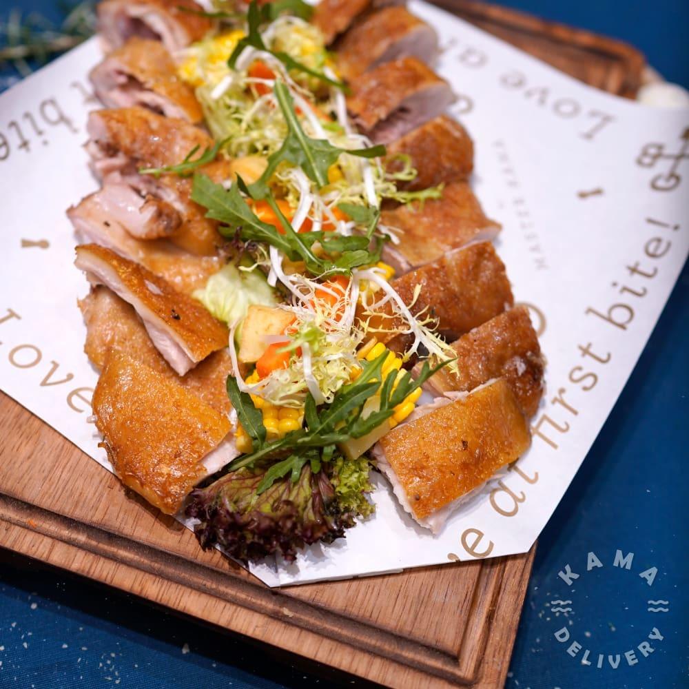 西班牙烤乳豬配燒汁、焗薯|單點到會肉類美食|Kama Delivery到會外賣速遞服務