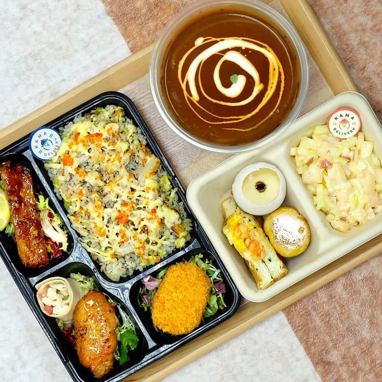 外賣午餐飯盒到會推薦【打工仔搵Lunch Box必食】|Kama Delivery到會外賣速遞服務