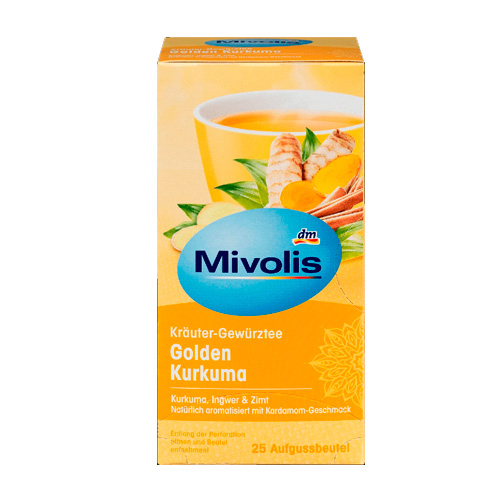 德國 Mivolis 黃金薑黃茶 50克 (25袋裝) *