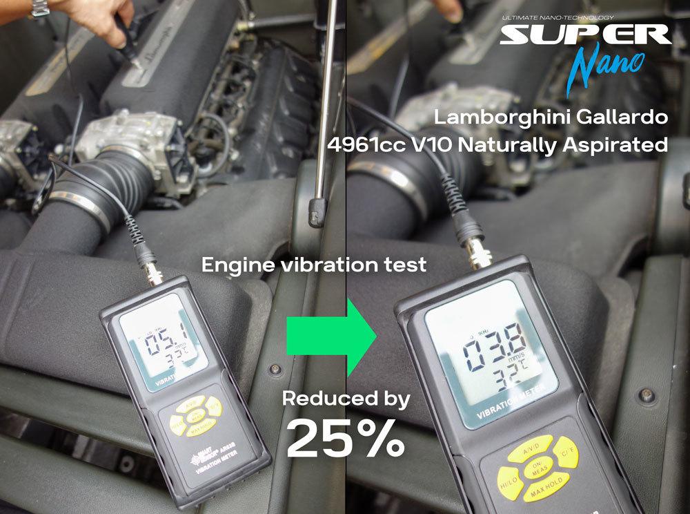 super nano lamborghini gallardo engine vibration test engine restorer