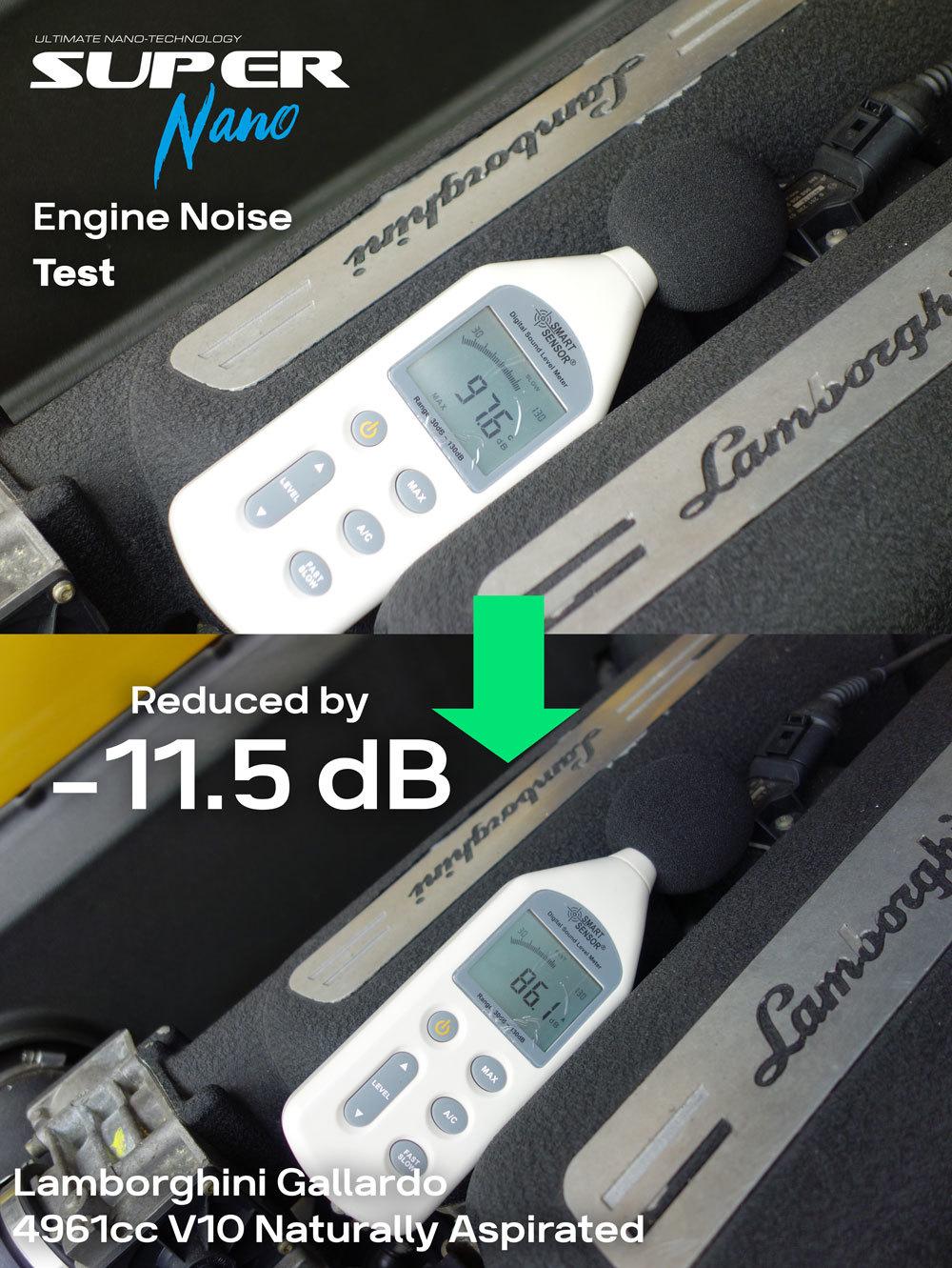 super nano lamborghini gallardo engine noise test engine restorer