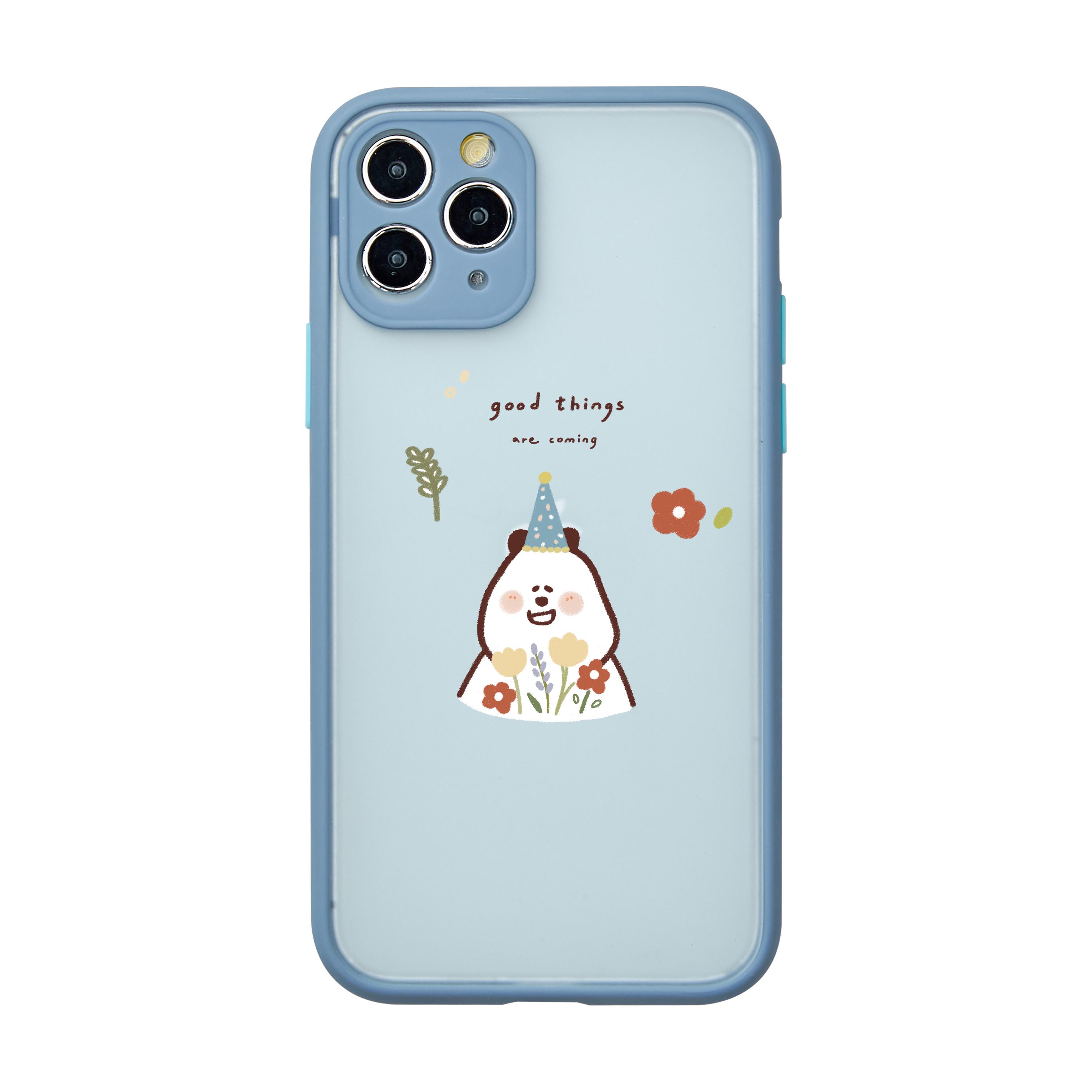 【插畫家聯名】Blush bear 小花系列霧面防摔iPhone手機殼