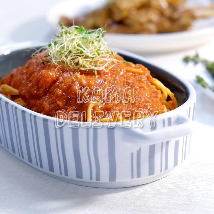 未來肉醬意粉(新豬肉 OmniPork)|未來肉與植物肉【單點健康素食外賣必食】|Kama Delivery到會外賣速遞服務