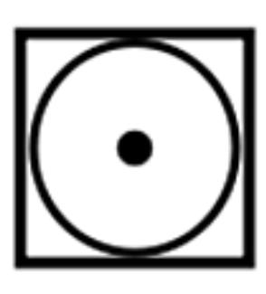 機器乾衣相關符號-低溫烘乾