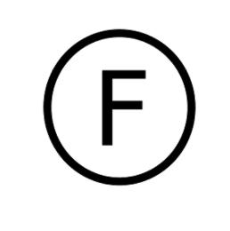 F代表衣服需以氟化碳溶劑清洗