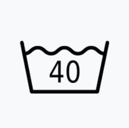 最高水洗溫度不可超過40℃