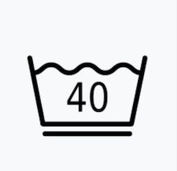 最高水洗溫度40℃的前提下,衣服需溫和洗滌
