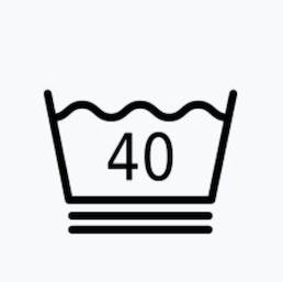 最高水洗溫度40℃的前提下,衣服需極輕柔洗滌
