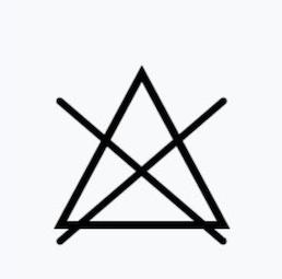 畫叉三角形,代表不可漂白