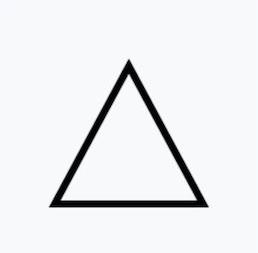 空白三角形,代表可以使用任何漂白劑