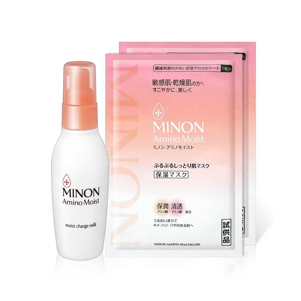 MINON 蜜濃 豐潤保濕乳液100g+保濕面膜*2入