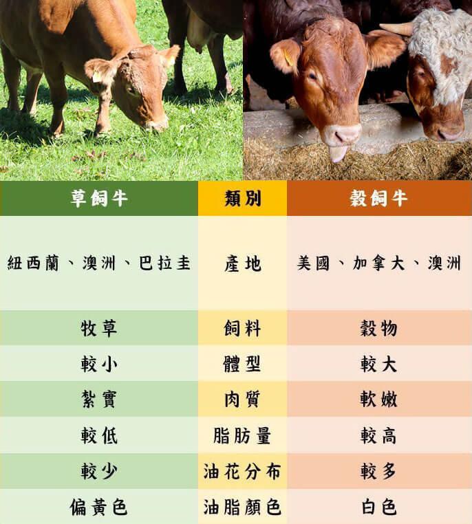 草飼牛榖飼牛比較