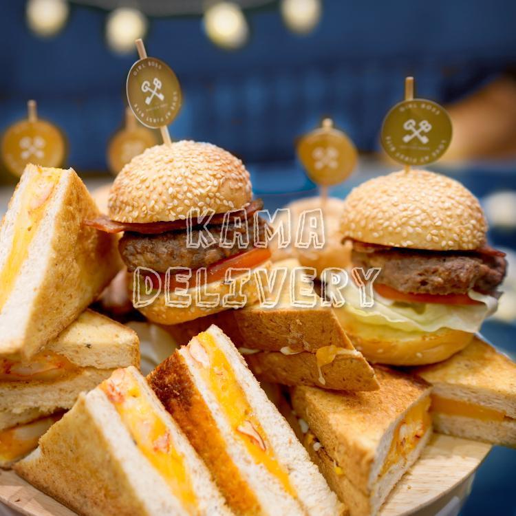 單點美食-迷你美式漢堡包 精緻到會推介2021【商務招待辦公室必備】 Kama Delivery到會外賣速遞服務