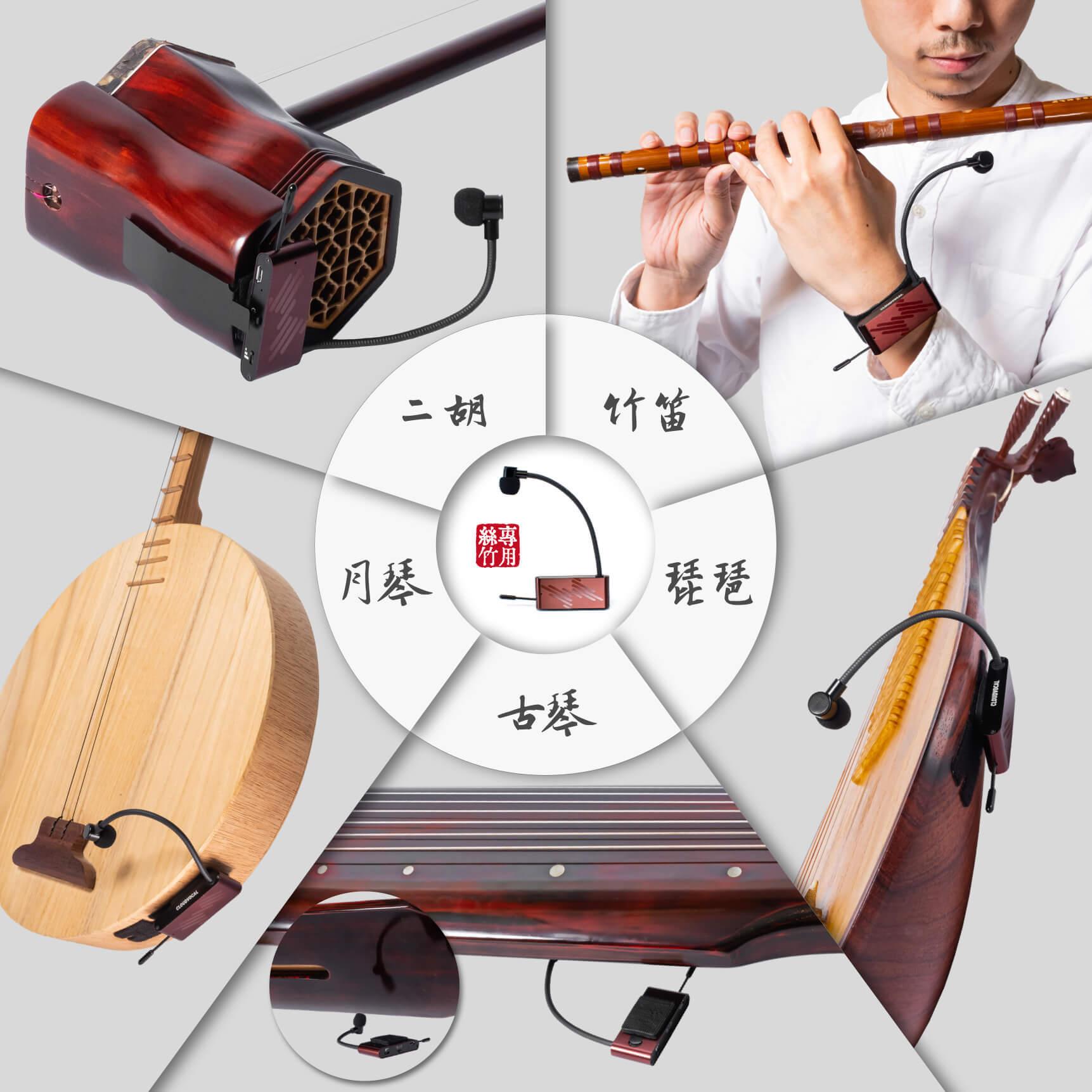 ISOLO絲竹樂器麥克風收音固定方式