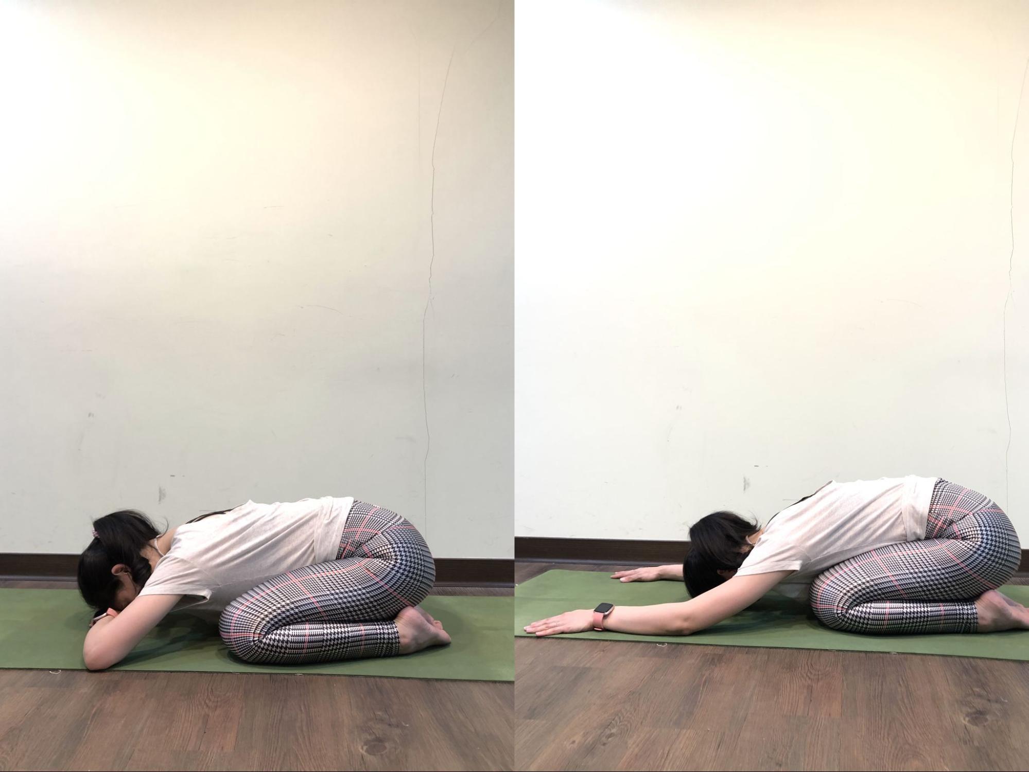 初級瑜珈招式:嬰兒式