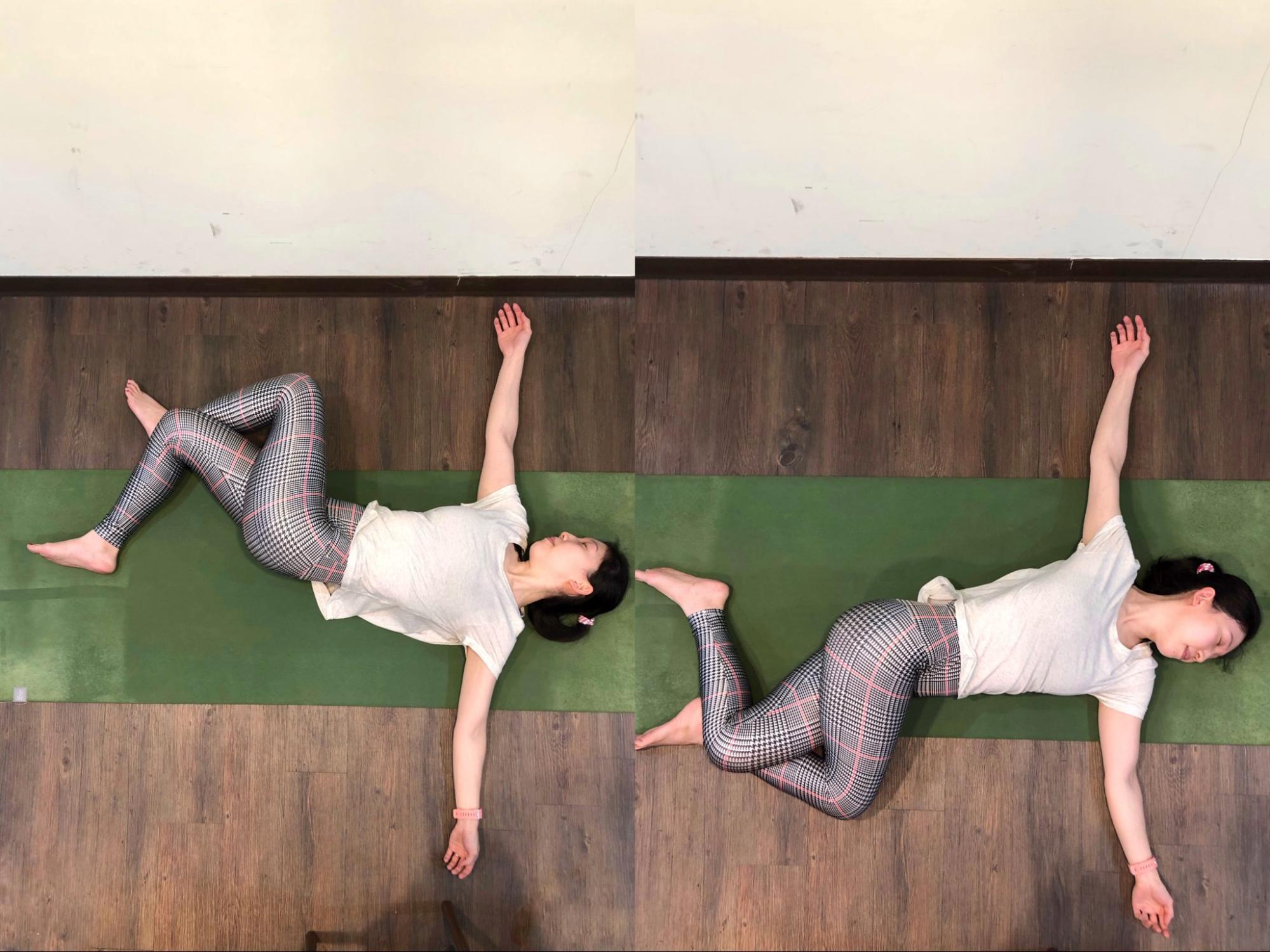 初級瑜珈招式:仰臥扭轉