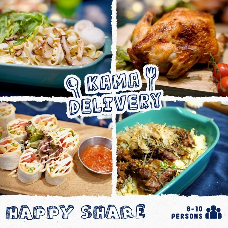 訂購派對聚會食物|6-8人到會套餐外賣推薦|Kama Delivery Catering Service