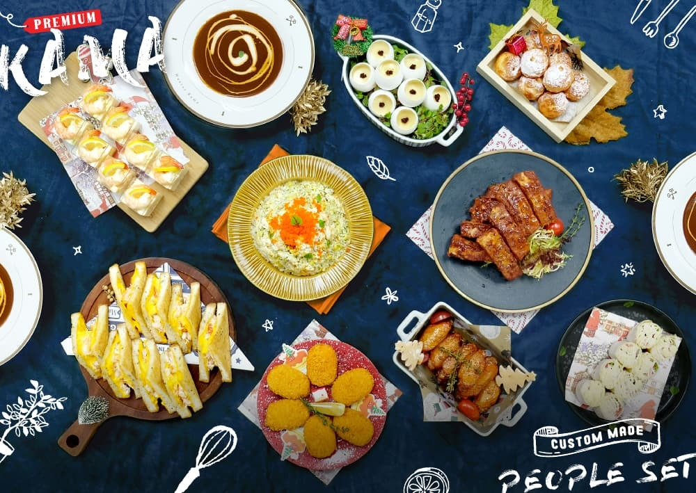 Kama Premium自選人數到會套餐|學校到會美食外賣推介2021|Kama Delivery專為謝師宴、聯歡會、同學生日會、聖誕派對等場合服務