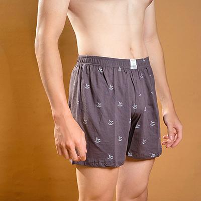 路克絲光棉平口內褲短版咖啡色