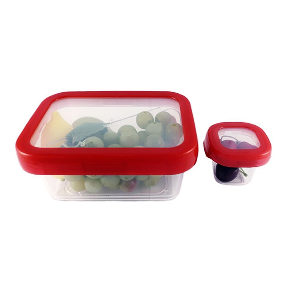 OXO 好好開密封分隔餐盒兩件組0.9L (紅色) 01022LHR
