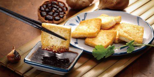 黑蒜香煎豆腐