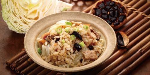 黑蒜高麗菜燉飯