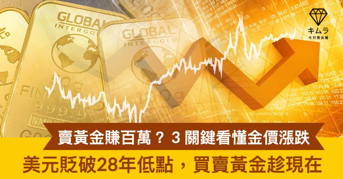 2020年黃金價格趨勢,看準金價漲跌關鍵點。