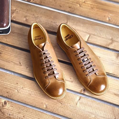 休閒皮鞋常用的扁形鞋帶綁法