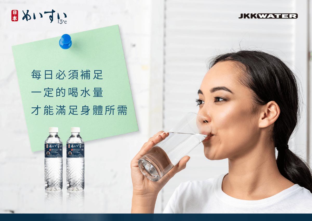 每日必須補足一定的喝水量