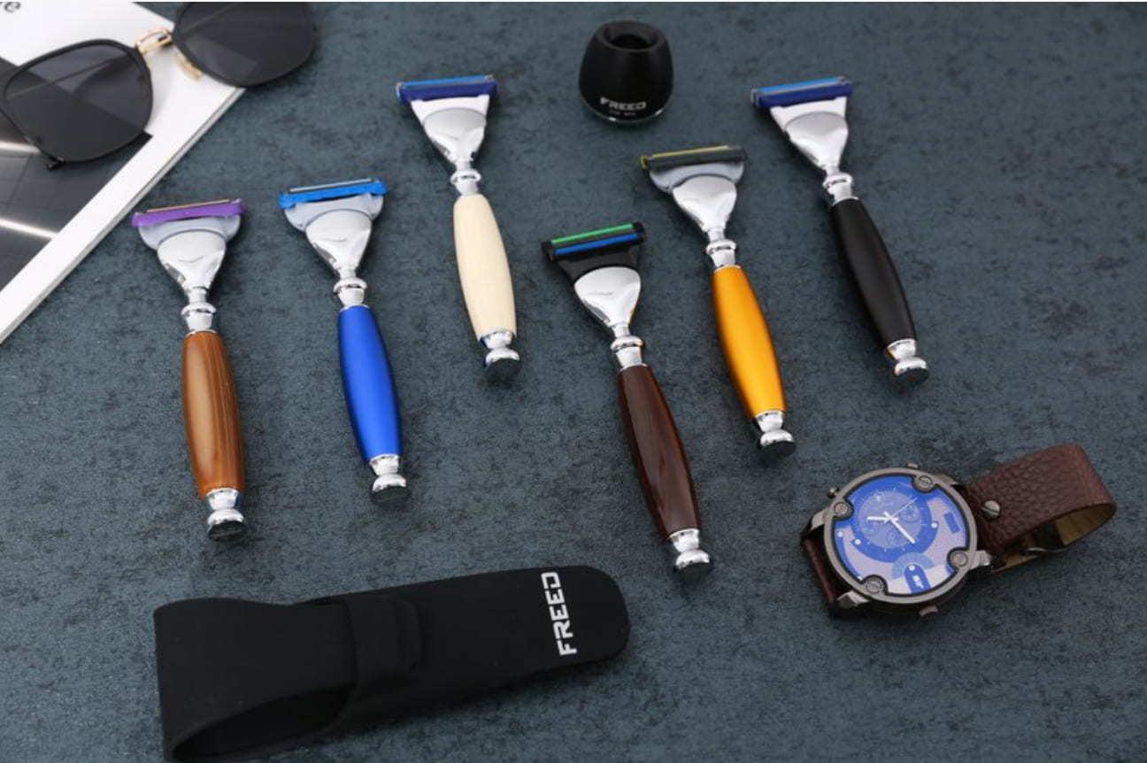 鋁合金屬鍍鉻刮鬍刀|10款實用父親節禮物推薦|Kama Delivery到會外賣速遞服務