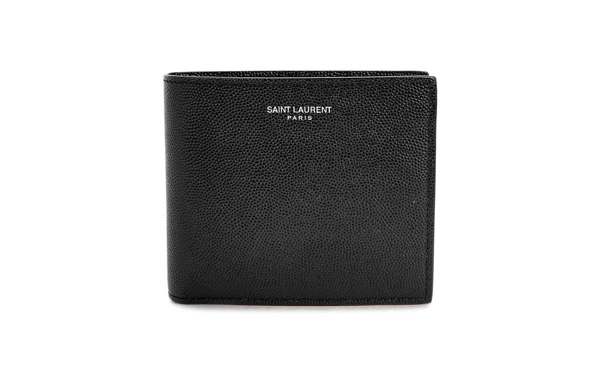 SAINT LAURENT黑色皮革錢包|10款實用父親節禮物推薦|Kama Delivery到會外賣速遞服務