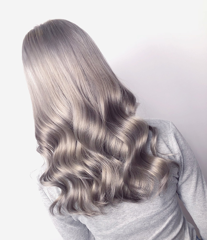 Ink Hair專業沙龍設計師精選作品集長捲髮背影篇質感冷灰色系染髮