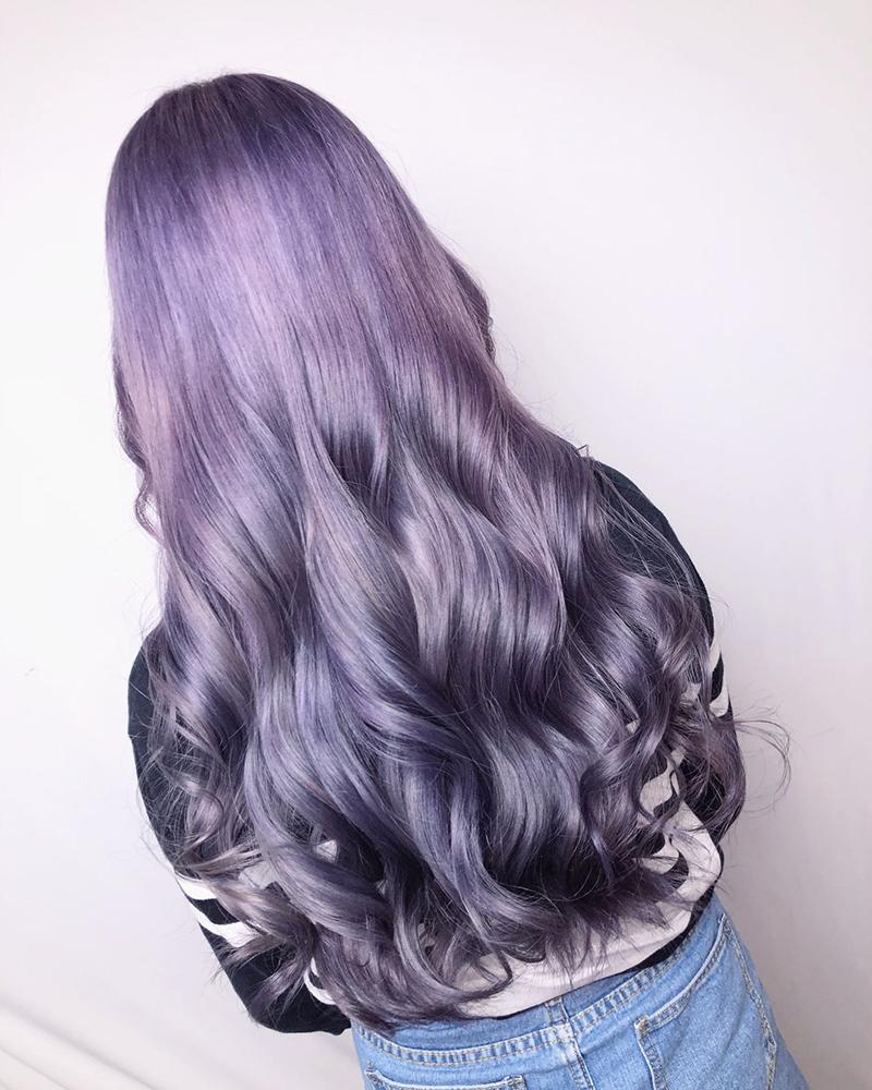 Ink Hair專業沙龍設計師精選作品集長捲髮背影篇紫黑漸層刷染髮