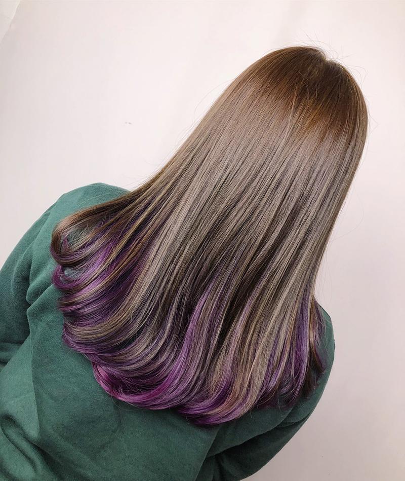 Ink Hair專業沙龍設計師精選作品集長捲髮背影篇質感冷棕色染髮