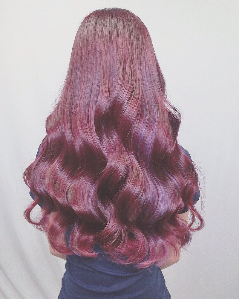 Ink Hair專業沙龍設計師精選作品集長捲髮背影篇紅色染髮