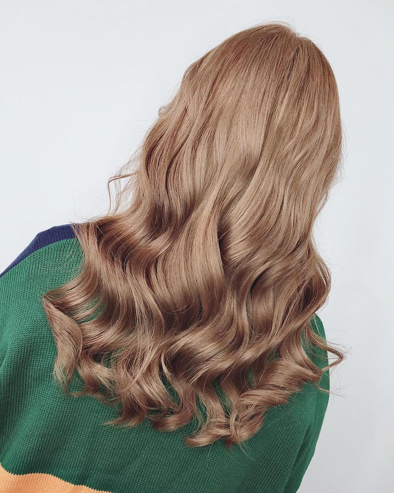 Ink Hair專業沙龍設計師精選作品集長捲髮背影篇咖啡棕色染髮