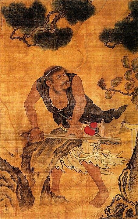 鐵拐李是傳說中的八仙之首,總是帶著裝有丹藥的葫蘆濟世救人