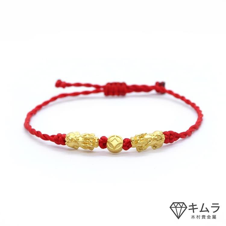 流行時尚的貔貅招財紅色手繩,是一個不錯的選擇。