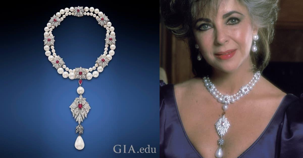 女星伊莉莎白·泰勒收藏的水滴珍珠項鍊 La Peregrina 被稱作「世上最完美珍珠」。