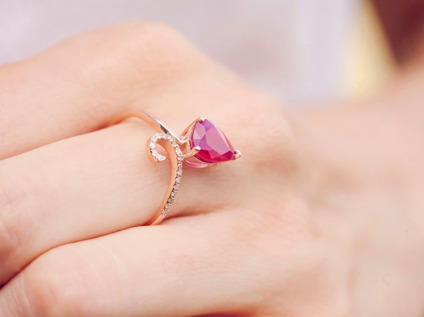 情侶戴對戒右手表熱戀,左手表訂婚。