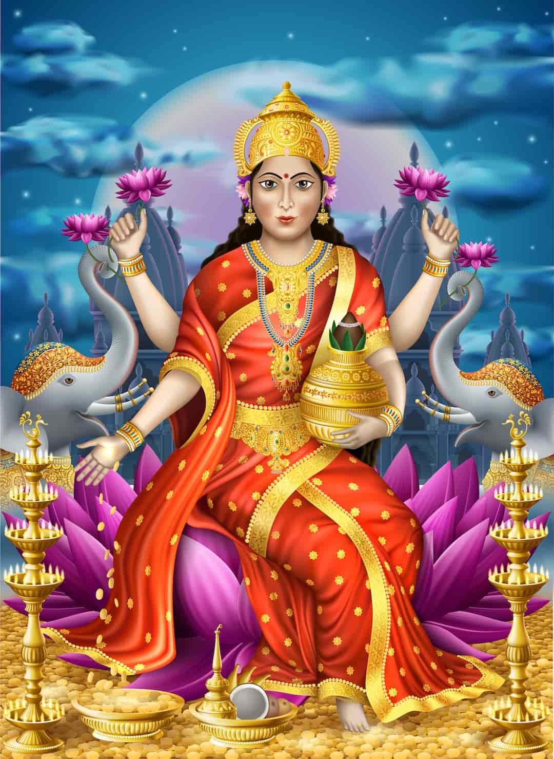 印度財富女神拉克什米身著黃金,足見黃金在印度人心中的崇高地位。