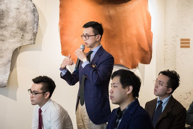 現場對於紳裝文化與手工皮件提出相關問題