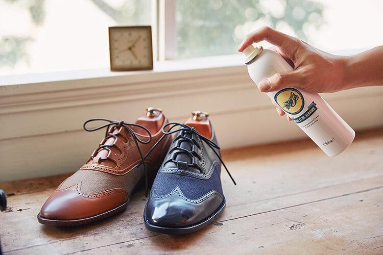 將心愛的皮鞋噴上林果防水噴霧