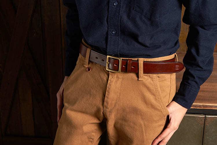 單寧搭配寬皮帶