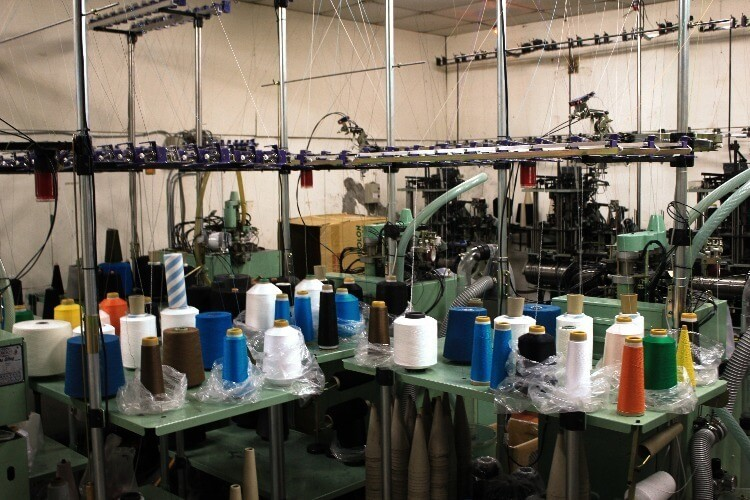 社頭的襪子工廠